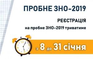 Відеоінструкція для реєстрації на Пробне ЗНО-2019